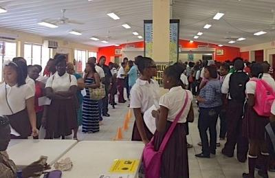 Cancryn's cafetorium was packed Tuesday with students