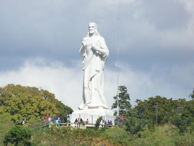 Christ statue over Havana Harbor