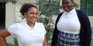 Vashti Parris and Dianna Arthurton at St. Croix Educational Complex.