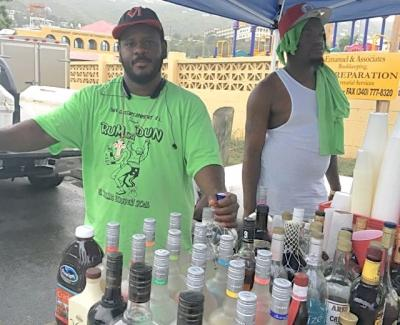 Vendor Keith Marsham has been working the J'ouvert route