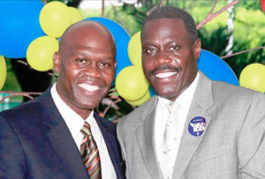 Moleto Smith and Hubert Frederick announces their gubernatorial run. (Photo from the Moleto Smith and Hubert Frederick gubernatorial campaign)