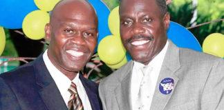 Moleto Smith and Hubert Frederick announces their gubernatorial run. (Photo from the Moleto Smith and Hubert Frederick gubernatorial campaign)