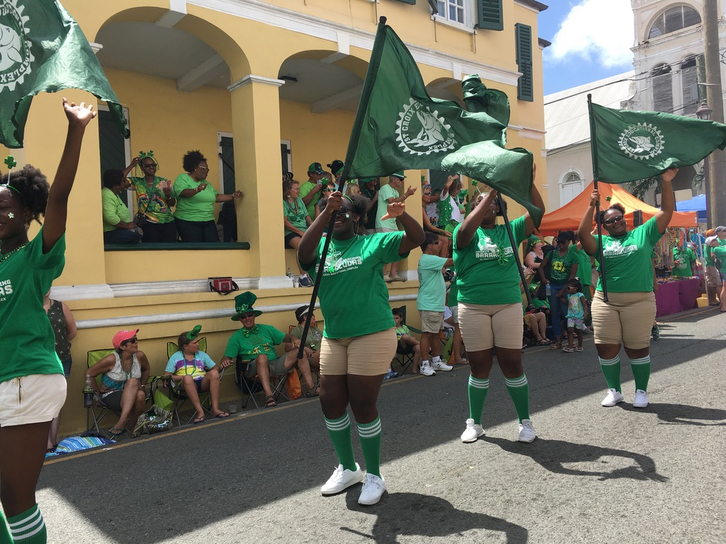 St. Croix Educational Complex students take part in the parade. (Ivy Hunter photo)