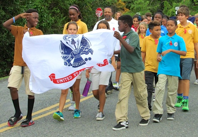 Gifft Hill School students march