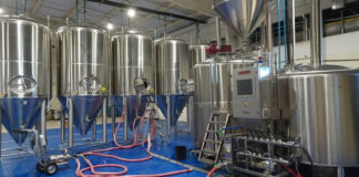 Leatherback Brewing boasts six shiny stainless fermenters and a big kettle. (Anne Salafia photo)