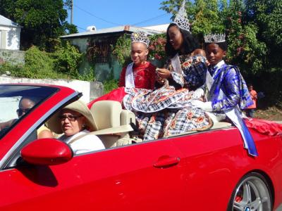 Miss St. Croix and other royalty lead the Children's Parade