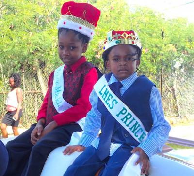 Royalty from Lew Muckle Elementary School charm spectators