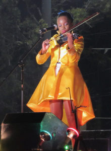Syneece Forbes plays the violin during the talent segment of the pageant.