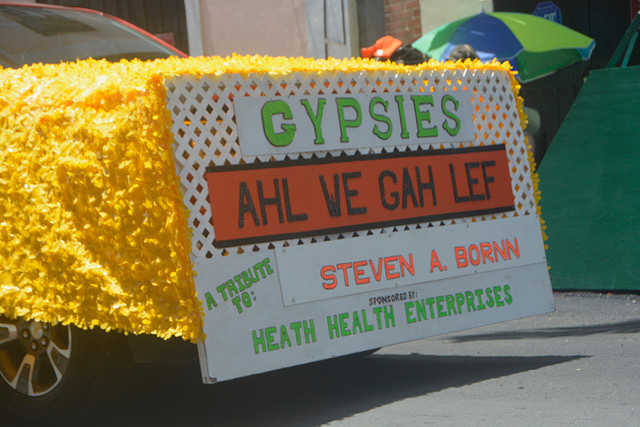 The Gypsies have been part of the Carnival Adult Parade since 1952. The famous Duke of Iron walked down main street in the rain when everyone else ran for cover. (Gerard Sperry photo)