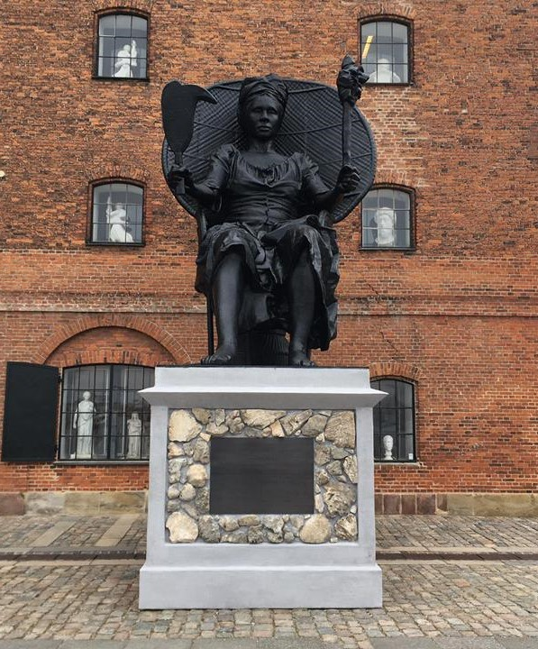 """I Am Queen Mary"" outside the West Indian Warehouse in Copenhagen, Denmark."