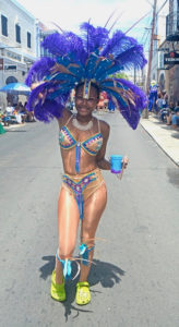 Kia Campbell of UVI pauses to pose. (Gerard Sperry photo)