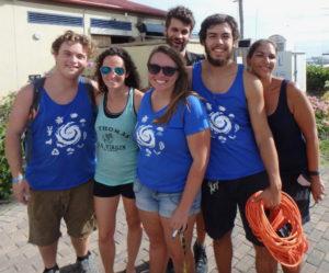 A team from UVI represents reef restoration studies. (Dave MacVean photo)