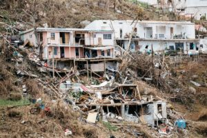 Damaged homes on St Croix after Hurricane Irma. )File photo)