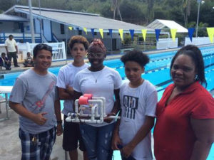 The Elena Christian Junior High team with their winning ROV.