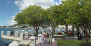 Artist's conception of Charlotte Amalie waterfront improvements. (Government House image)