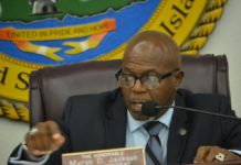 Senate President Myron Jackson (File photo from the V.I. Legislature)