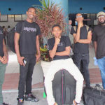 From left, V.I. musicians Howard Peters, Josh Farrell, Eljhaie Brathwaite, Jairay Patty and Shamoi Rodgers.