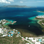 Sargassum is breaking down near Coki Point, seen above, and Margaritaville, and creating a serious smell. (Photo by Alain M. Brin, Blue Glass Photography)