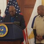 Police Commissioner Delroy Richards Sr. addresses Saturday's news conference.