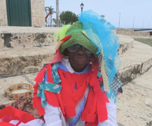 West End Masquerader Asta Williams takes part in the Emancipation Day activities.