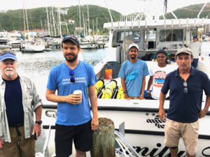 The crew sets out to deploy the four gliders to be positioned south of St. Thomas. (Gerard Sperry photo)