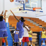 The USVI senior women's national team hits the hardwood Monday for a final shooting practice before this week's CAC games.