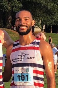 Eduardo Garcia ran a personal best and set a new national record in the marathon posting a time of 2:18.50 Sunday in the Chevron Houston Marathon.