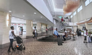 Designs for the redeveloped Rohlsen include a 'great room' at the center of the airport.