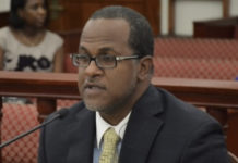 Outgoing Budget Director Julio Rhymer (File photo by Barry Leerdam, V.I. Legislature)