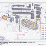 Schemdatic shows planned location of modular classrooms on the Charlotte Amalie High School athletic field. (Department of Education)
