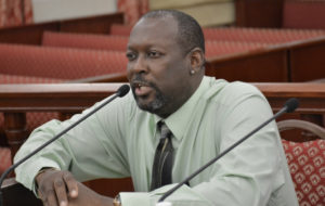 VICC Executive Director Halvor Hart III on Monday fields questions from the Senate Finance Committee.