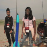 Shimeeka Stanley and Stephanie Bullock take part in the National Association of Rocketry contest in Pueblo, Colorado. (Photo from Steve Bullock's Facebook page)