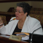Casino Control Commission Chair Violet Ann Golden testifies before the Legislature in 2015. (Photo by Barry Leerdam, the V.I. Legislature)