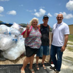 From left, Diane and Gary Brooks and Mafi Hamed spearhead the plastics recycling project at Plaza West on St. Croix. (Source file photo)