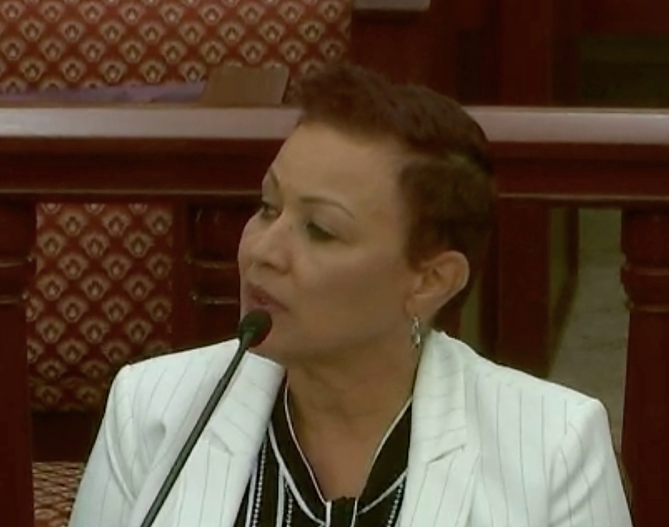 Wanda Ruben testifies before the Senate in August. Ruben was ousted Friday as CEO of the Juan F. Luis Hospital. (File photo)