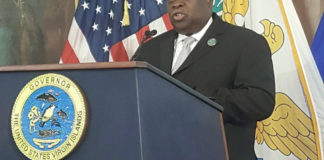 At a St. Croix news conference Tuesday, Gov. Kenneth Mapp announces the planned Workforce Development Scholarship Program.