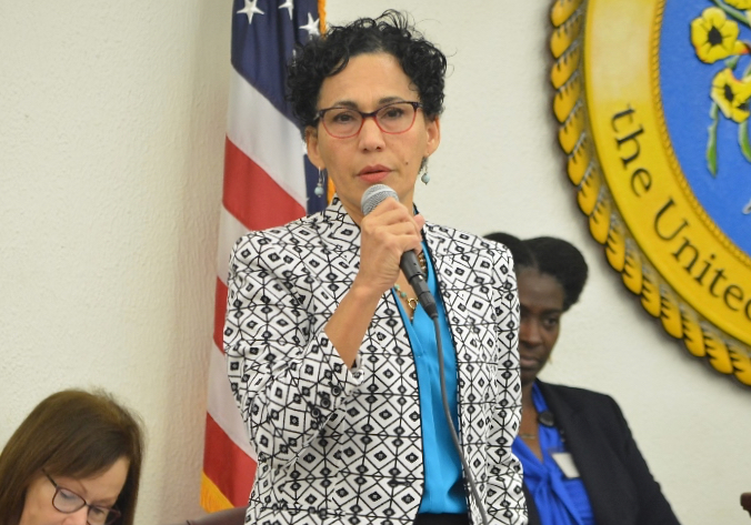 Sen. Nereida Rivera-O'Reilly sponsored several of the bills approved in Friday's session. (Photo by Barry Leerdam, V.I. Legislature)