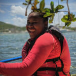 Anissa Wallen enjoying a day in the St. Thomas East Reserves kayaking and collecting GPS coordinates of derelict vessels as art of the Youth Ocean Explorers program. (Submitted photo)