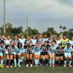 St. Croix's 40GSA Girls' Soccer Academy in blue, with some of their Puerto Rican competitors during their recent Borinquen adventure. (Image provided by 340GSA)