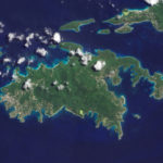 St. John from satellite. 'Everything looks simpler from 35,000 feet.' Frank Schneiger.