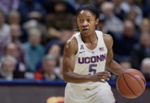 Crystal Dangerfield leads the No. 2 UConn Huskies into the Paradise Jam play for the Reef Division title.