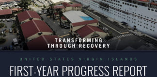 The cover of the USVI Recovery Report, which can be downloaded here.