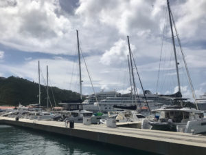 Luxury charter yachts line the pier at Yacht Haven Grande in preparation for the VIPCA Charter Yacht Show, Sunday through Tuesday. (Photo by Melisa Kirby)