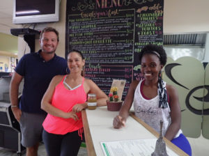 From left, Michael DelGiacco, owner of Beeston Hill Health and Wellness, Wendy Adams, co-manager and Dr. Micah McIntosh at A Better Day Café, part of the DelGiaccos investment in St. Croix.