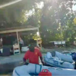 Screenshot of a video that purports to show Dalton Powell stealing from dinghies on St. John.