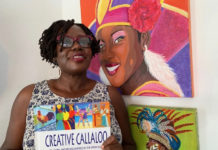 "St. Croix artist Danica David's signature style – bright, bold colors and strong graphics – highlights her book, ""Callaloo Culture."""