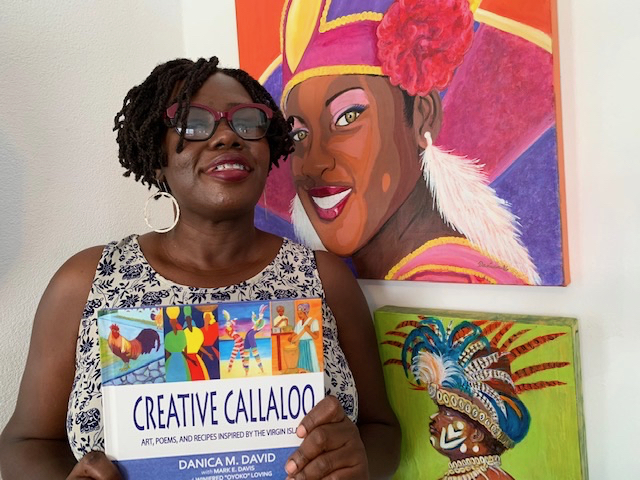"""St. Croix artist Danica David's signature style – bright, bold colors and strong graphics – highlights her book, """"Creative Callaloo."""""""
