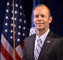 Official FEMA portrait of Brock Long, who resigned Wednesday as the administrator of FEMA.