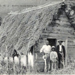 How Some lived: Some St. Thomians lived in traditional thatch-roofed homes a century ago.