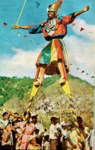 A mocko jumbie dances on St. Thomas in the 1060s. (Photo submitted by Willard John)